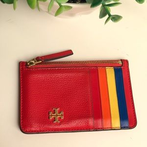 Tory Burch🔴🌈Leather Card Case